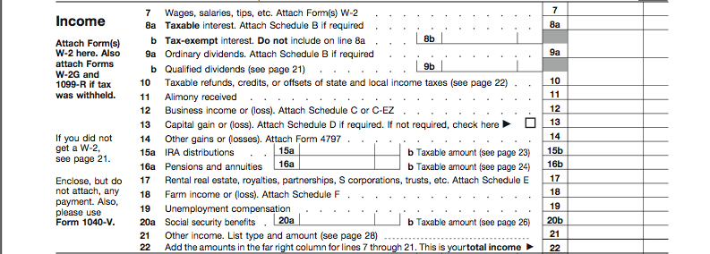 How To Fill Out Form 1040 Preparing Your Tax Return Oblivious